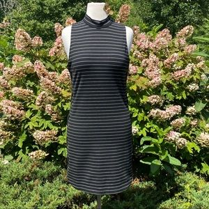 Sugarlips Dress Midi Black Knit Stretch Zip Sz S